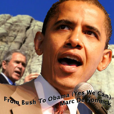 Artwork From Bush To Obama (Yes We Can)